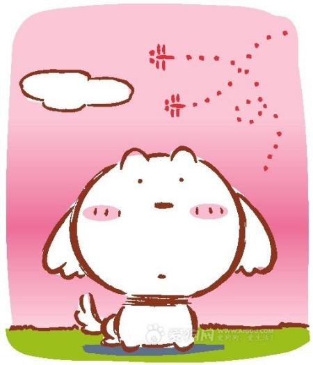 可爱卡通小狗简笔画 百度知道 高清图片