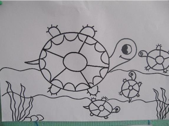 儿童画 简笔画 手绘 线稿 573_429